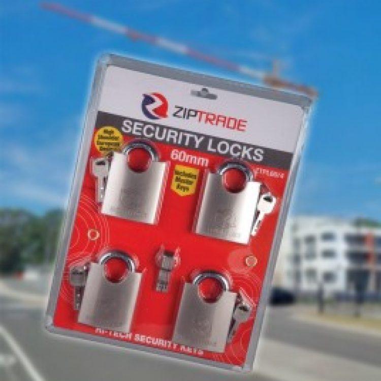 60mm ZIPTRADE Security Padlock Set