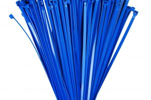 100mm x 2.5mm Blue Cable Ties (100Pk)