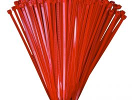 200mm x 4.8mm Red Cable Ties (100Pk)