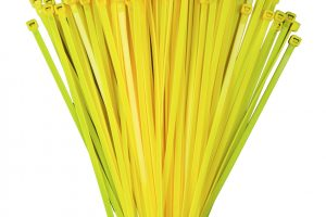 100mm x 2.5mm Yellow Cable Ties (100Pk)