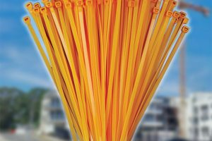 100mm x 2.5mm Orange Cable Ties (100Pk)