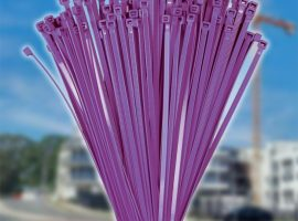100mm x 2.5mm Purple Cable Ties (100Pk)