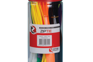 Mixed Colour Cable Tie Hanging Pack, 200mm