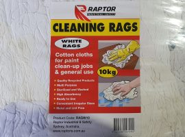Raptor Rags – 10Kg White Cotton T-Shirt
