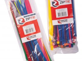 Raptor 80pc, 200mm x 4.8mm Mixed Colour Cable Tie Pack